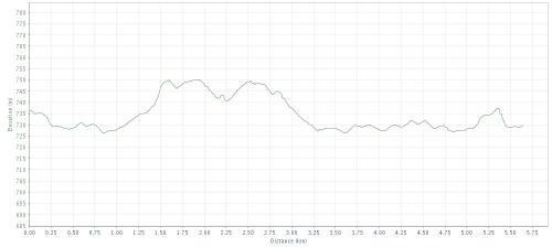 Altimetria da Meia Maratona Corpore - 5,5 km