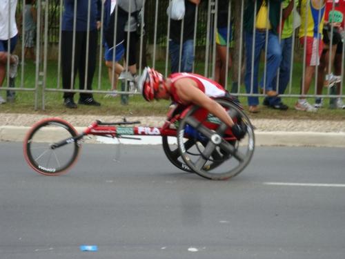 Cadeirante na Maratona de São Paulo