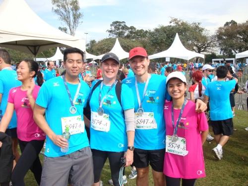 Rubens, Erika, Bira e Claudinha no revezamento da Mizuno 10 milhas