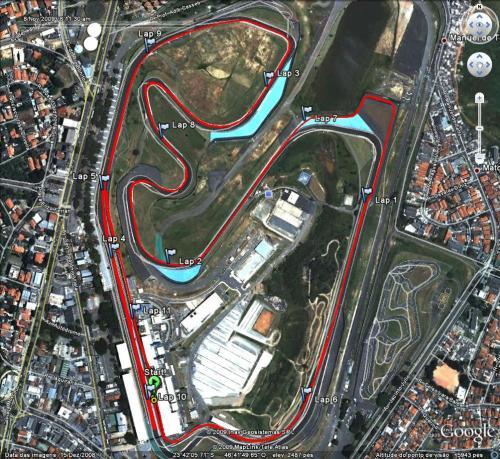 Ayrton Senna Racing Day - Percurso